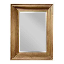 Feiss - Feiss MR1134SVSD Stepped Silver Sand Mirror - Feiss MR1134SVSD Stepped Silver Sand Mirror