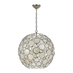 Crystorama - Crystorama 529-SA Chandelier - The Palla collection, inspired by one of Dorian Webb's bracelet designs, is more elemental in nature and natural in earth tones. Palla is Italian for sphere, and the collections standout fixture is the orb-shaped design. Palla offers two hand painted fini As a family owned company their concern for excellence is expressed in their styling, detailing and sincere caring for their valued customer. Crystorama was initially founded as a primary importer of crystal chandeliers and offers the finest selection of classical crystal designs.