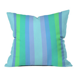 DENY Designs - Lisa Argyropoulos Caribbean Cool Throw Pillow - Wanna transform a serious room into a fun, inviting space? Looking to complete a room full of solids with a unique print? Need to add a pop of color to your dull, lackluster space? Accomplish all of the above with one simple, yet powerful home accessory we like to call the DENY throw pillow collection! Custom printed in the USA for every order.