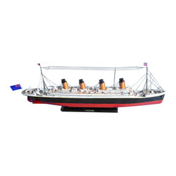 """Handcrafted Model Ships - RMS Britannic Limited 30"""" - Nautical Decor - Sold fully assembled"""