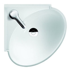 Ada Corner Sink : rounded corner bathroom sink is made from white ceramic and is ADA ...