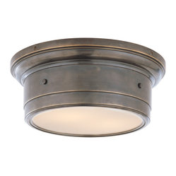 Siena Small Flushmount Light - A simple flushmount fixture is the ideal choice for your bedroom or small bathroom. Bronze hardware and white glass pair beautifully and fill your space with soft diffused light. You can't go wrong with this classic lighting piece.