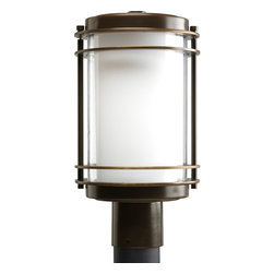 Progress Lighting - Progress Lighting P5472-108 Penfield One-Light Post Lantern in Oil Rubbed Bronze - One-light post lantern with clear and opal glass.