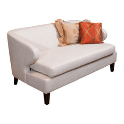 Great Deal Furniture - Layton Modern Fabric Loveseat , Beige - The Layton Loveseat is the perfect piece of  furniture to liven up any room. The clean lines and simplistic style make this petite sofa extremely versatile as a feature piece or accent couch. With lots of potential to dress it up or down, the Layton Loveseat will enhance your living room, bedroom or office.