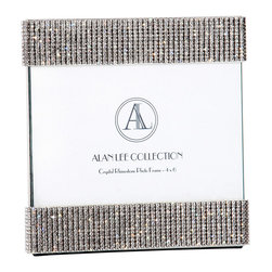 """Alan Lee Collection - Princess Collection 4""""X6"""" Picture Frame - This extravagant frame features hand applied crystals that are precisely applied to create a glittering and elegant display. Insert your most cherished photo in this gorgeous frame."""