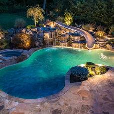 Mediterranean Hot Tub And Pool Supplies by Dolphin Waterslides