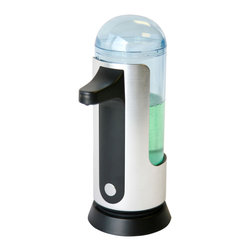 "iTouchless - iTouchless Automatic Sensor Soap Dispenser, 16oz One Unit - ""Studies have shown that the most effective way to prevent the spread of bacteria is to wash hands regularly with soap. By following what the experts suggest, you have to reach out to the filthy pump dispenser for a drop of soap. But wait, with both of your hands full of raw chicken juice, how can you get some soap without contaminating the dispenser even more?"