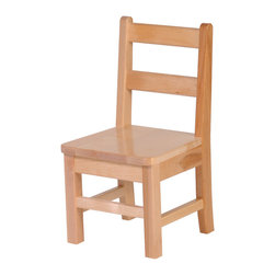 "Steffywood - Steffywood Home Kids Toddler 10"" Solid Maple Chair - Solid maple construction; mortise and tenon construction; curved rear legs to prevent tipping; manufactured in Canada.Seat height 10"". Seat measures 11 1/2""w x 10 1/2""d. GreenGuard certified. Made in Canada."