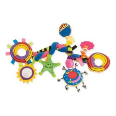 Manhattan Toy - Manhattan Toy Whoozit Big Bang - The Whoozit Big Bang is the perfect distraction for your little one during long car rides! This stroller and car-seat toy features a bendable structure with several playful attachments that dangle by stretchy elastic cords.