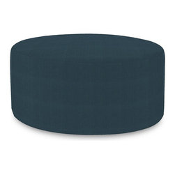 Howard Elliott - Sterling Indigo Universal 36 Round Cover - Does your Universal 36 round need an update? Do so by simply getting a new cover. Velcro fasteners and tailored design make it so you would never know this piece is slipcovered. Cleaning and updating is a breeze, change your look on a whim with new covers!
