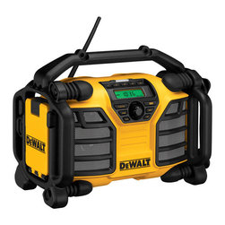 Dewalt - 12V/20V Max Radio/Charger - 2 amp charger for 12V Max and 20V Max Dewalt battery packs allows for quick and convenient battery charging. Runs of 12V Max and 20V Max DeWalt batteries making it a cordless radio capable of running off rechargeable and reusable battery power. 2 AC power   outlets offer more versatility for jobsite power. Auxiliary and USB ports allows for connection to cd, mp3, portable satellite receivers and other digital audio devices. USB port allows device to be charged via USB ports. Class D amplifier, woofers and t  weeters provide full range of high and low sound for optimum sound quality.      This item cannot be shipped to APO/FPO addresses.  Please accept our apologies