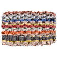 Recycled Maine Lobster Rope, Float-Rope Doormat. The Colors of Maine - Large| Ne