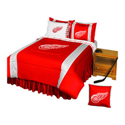 Store51 LLC - NHL Detroit Redwings Bedding Set Hockey Bed, Full - Features: