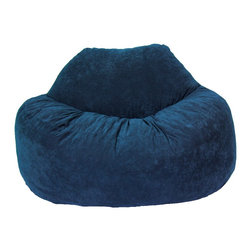 Comfort Research - Comfort Suede Blue Sky Chillum Loveseat - All it takes is one sit to understand exactly why our one-of-a-kind Fuf Collection has brought bean bags out of your grandparent's dusty basement and into college campuses, bedrooms and living rooms around the world. With all sorts of sizes and colors available, all perfectly filled with our patented memory foam, the hardest part about sitting down on any Fuf is convincing yourself it's time to get up. Please note this item requires an additional shipping timeline of 10-14 days.