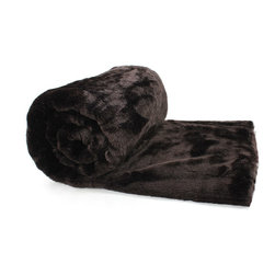 Love Thy Prey Faux Fur Throw - Panther Ebony - Spread the Panther Onyx faux fur on a bed or fold it on a window seat to enjoy its richness in the home.  Black as a luscious sin and soft as a lingering touch, this dark throw makes an ideal blanket for bringing raw, fundamental power to the effect of polished bedding; in a monochromatic living room, the depth and light of its color are overpowering.  This splendid black faux fur throw comes from the highly-desirable Love Thy Prey line.