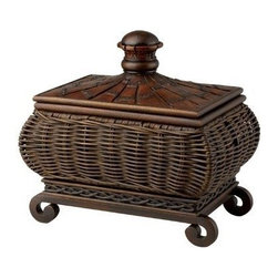 CAL Lighting - Cal BO-888BX Wicker Wrapped Box - Dark Rust Finish - Wicker Wrapped Box