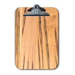 "Note Catchers by Winwood Designs - Ambrosia Maple Clipboard, Beautiful and Practical - A Classic American Clipboard designed to hold a standard pad of paper (8.5""X12""). Crafted from solid Appalachian Ambrosia Maple wood. Made in the USA with earth friendly American hardwoods. Perfect for home, office or field. Organize your day with this beautiful accessory. A desk for your mobile office!"