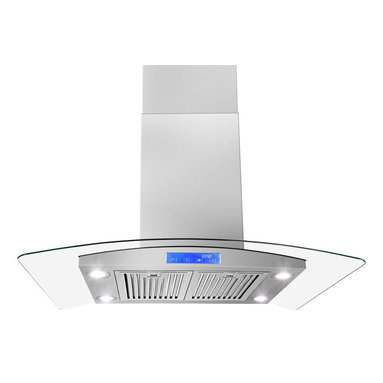 """AKDY - AKDY AK-Z668I-CS3-B Euro Stainless Steel Island Mount Range Hood, 30"""" - This AKDY 30"""" stainless steel range hood will add a touch of contemporary European styling to your kitchen while removing unwanted odors, smoke, moisture, and other contaminants. This range hood is designed to meet the requirements of todays highly styled, conventional appliances and kitchens with features such as a 870 CFM centrifugal blower, touch sensitive electronic controls and delayed auto power shutoff."""