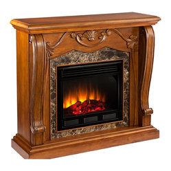 Taylor Fireplace, Walnut, Electric