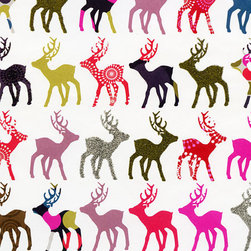 Holiday Gift Wrap Sheet, Patterned Reindeer - Celebrate reindeer games with this holiday print. I would use it as wrapping or frame it as some special holiday wall decor.