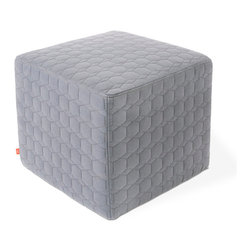 Gus Modern - Dawson Cube NEW by Gus Modern - Geo Steel - The Dawson Cube is a simple, upholstered accent which can be used as a side table, footrest, or as extra seating. Great for small spaces like entryways or bedrooms.