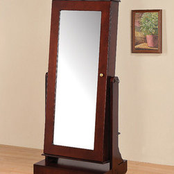 Wildon Home � - Mattie Jewelry Armoire in Cherry - Features: -Cherry finish. -Large floor mirror. -Ample storage spaces. -Manufacturer provides sixty days warranty.