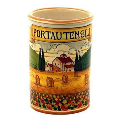 Artistica - Hand Made in Italy - Paesaggio Toscana: Utensil Holder - Paesaggio Toscana: