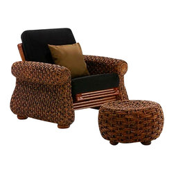 Night & Day Furniture - Night and Day Iris Footstool in Honey Glaze - Our Iris Ottoman lives and breathes exotic charm. Use them anywhere, with the Iris chair, or on their own.