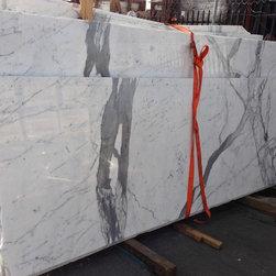 "Royal Stone & Tile Slab Yard in Los Angeles - Statuario Venato Marble slab 1 1/4"" (3 cm) from Royal Stone & Tile in Los Angeles"