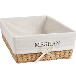 Savannah/Havana Underbed Large Basket Liner, Ivory - Our pure cotton ivory liners make it easy to tote laundry, recyclables or other around-the-house items from your baskets to their destination, all while keeping your baskets nice and clean. Woven of pure cotton. Machine wash. Catalog / Internet only. Imported.