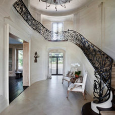 Traditional Staircase by Andre Tchelistcheff Architects