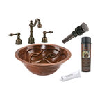 Premier Copper Products - Round Braided Under Counter Sink w/ORB Faucet - PACKAGE INCLUDES: