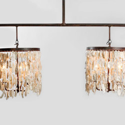 "Brilliant Coastal Lighting - The Wassau Double Shell Drum Chandelier measures 60"" W x 24"" height at the stem."
