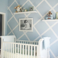 DIY wall. make pattern with painters tape. Paint wall. Peel off tape. So cute!