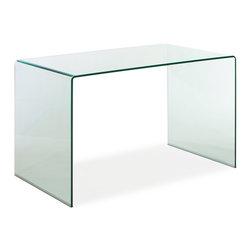 ZUO MODERN - Caravan Desk Clear Glass - Caravan Desk Clear Glass