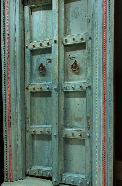 Eclectic Front Doors by De-cor
