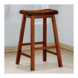 "Aloha 29"" Bar Stool in Oak (Set of 2)"