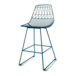 "Bend Seating - Lucy Counter Stool, Peacock - Refresh your dining area with graceful and elegant Lucy Counter Stools. Distinctive kitchen stools can be used indoors or out, Sturdy construction. Hot dipped galvanized iron to prevent rust. Seat height 25.5"". Slight assembly required."