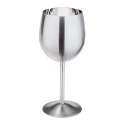 Cuisinox - Cuisinox 12 oz Wine Goblet - This simply classic stemware welcomes your choice of refreshment. From red or white wines to sparkling water, this wine goblet flute is perfect to accompany modern or traditional table settings. The stainless steel composition keeps your choice of beverage cool. It is unbreakable, so it will last forever.