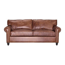 Jean - Traditional Leather Sofas and Couches Collection - The Sofa Company - With her classic and everlasting design, Jean offers a traditional rolled arm with the elegance of a skirt. Inviting and comfortable, Jean is anything but your traditional formal living room sofa.