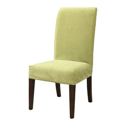 """Powell - Powell Basil Green Velvet """"Slip Over"""" Slipcover X-Z952-147 - Designed exclusively for our """"Slip Over"""" Seating, this soft, inviting slipcover retains its smooth fit and removes easily for cleaning or changing. The Basil Velvet """"Slip Over"""" is a great way to make your existing furniture new and different. Featuring Basil Green Velvet solid pattern fabric - 70% polyester, 30% rayon, this """"Slip Over"""" is appealing and attractive and would make a great addition to your home.  For use with 741-440 chair."""