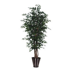 6 ft. Ficus Executive Tree / Silver / Black - About VickermanThis product is proudly made by Vickerman, a leader in high quality holiday decor. Founded in 1940, the Vickerman Company has established itself as an innovative company dedicated to exceeding the expectations of their customers. With a wide variety of remarkably realistic looking foliage, greenery and beautiful trees, Vickerman is a name you can trust for helping you create beloved holiday memories year after year.