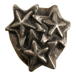 Anne at Home Hardware - Star Cluster Knob, Antique Bronze - Made in the USA - Anne at Home customized cabinet hardware enables even the most discriminating homeowner to achieve the look of their dreams.  Because Anne at Home cabinet hardware is designed to meet your preferences, it may take up to 3-4 weeks to arrive at your door. But don't let that stop you - having customized Anne at Home cabinet knobs and pulls are well worth the wait!   - Available in many finishes.