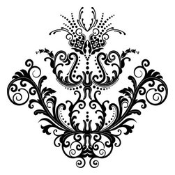 Odhams Press - Chantilly Black RETile Decal, Clear Background - RETile decals can be used to accent or transform your existing ceramic, stone or glass tiles. They are easy to apply and can be removed in the future without leaving a sticky residue.