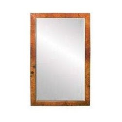 """KCK Bathroom Mirrors & Accessories - Medium Milano Mirror In Tempered - Beveled edge glass. Hand hammered copper. Horizontal or vertical mounting. Post-consumer recycled copper. 28"""" W x 40"""" D. For sale at Kitchen Cabinet Kings."""