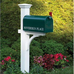Lazy Hill Farm Designs - Lazy Hill Bristol Mailbox - 999197 - Shop for Mailboxes and Accessories from Hayneedle.com! A true classic the Lazy Hill Bristol Mailbox is everything you'd expect. Marked for U.S. Mail and finished with a long-lasting electrostatic finish is forest green pure white or true black. Affix this beauty to a classic post raise the red flag and you're ready to go! About Good DirectionsGood Directions got its start by creating weathervanes and cupolas but it has expanded its line to include a wide range of decorative yet functional products for the home and garden including popular Fire Domes rain chains and garden weathervanes. The company continues to attract innovative artists and designers eager to lend their vision to the creation of exceptional products to enhance the home both indoors and out. No matter which way the wind blows you can count on Good Directions to show you the way to a beautiful home.