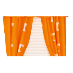 College Covers - NCAA Tennessee Volunteers Curtains Long Collegiate Drapes - Features: