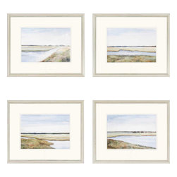 Paragon - Marshes PK/4 - Framed Art - Each product is custom made upon order so there might be small variations from the picture displayed. No two pieces are exactly alike.