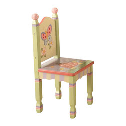 Teamson Design - Teamson Kids Magic Garden Hand Painted Set of 2 Kids Chairs - Teamson Design - Kids Chairs - W7484A/2. The Magic Garden Chairs are made of engineered wood in a colorful hand painted garden theme. These chairs meet the high standards of JPMA to ensure the safety of your children during use. With a strong design, the Magic Garden Chairs offer a lasting appeal your little ones will enjoy for many years.