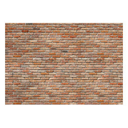 "Komar - Exposed Brick Wall Mural - This mural is 12'1"" x 8'4"" and comes as eight easy to install panels. Made in Germany. Roll Coverage: 100.69 square feet. Paste Included."